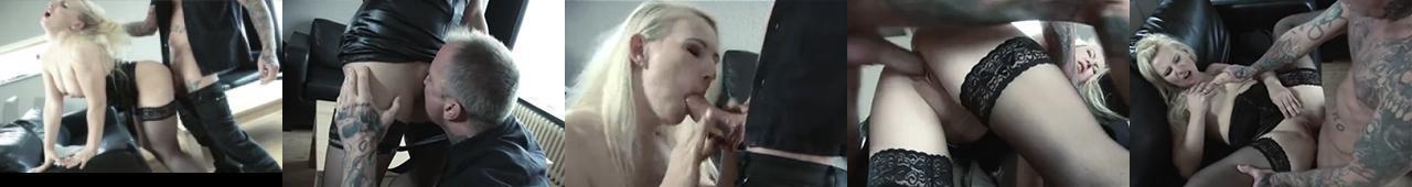 Wytatuowany facet ostro jebie blondynę
