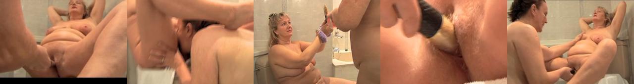 Polskie starsze pulchne babki w łazience 3