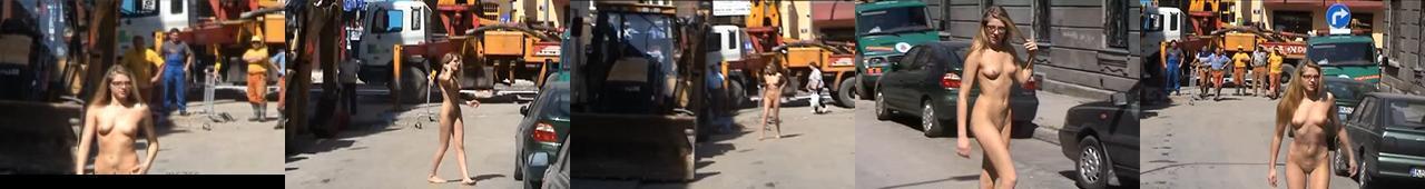 Agnieszka chodzi nago po ulicy